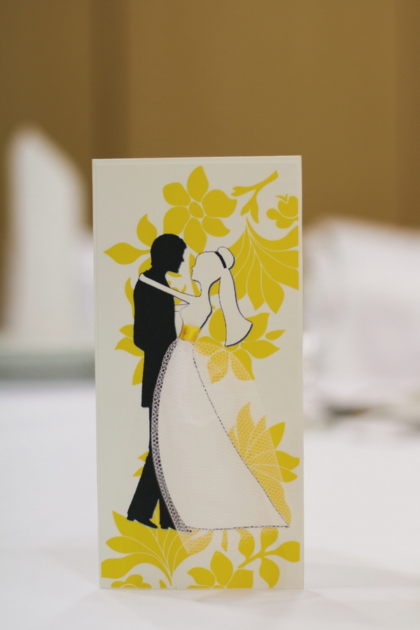 Bride and groom card - A Spring Themed Wedding in Hungary