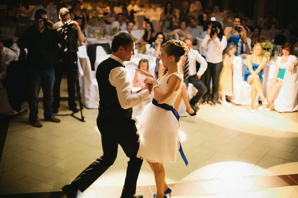 Bride and groom dance routine - A Spring Themed Wedding in Hungary
