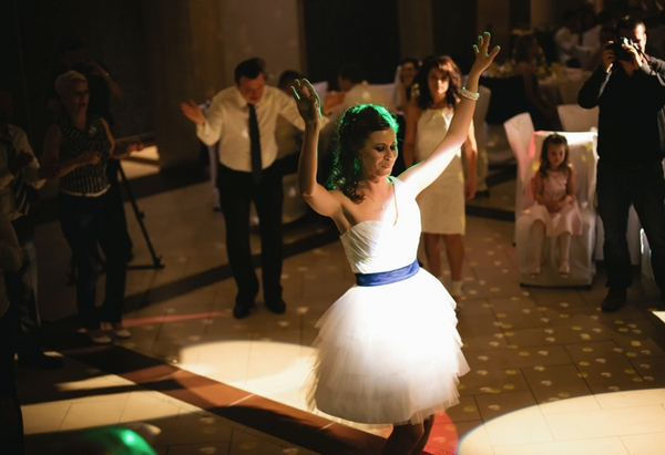 Bride dancing - A Spring Themed Wedding in Hungary