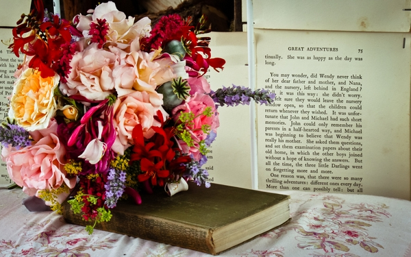 Wedding Flowers and Book - The Tea Set