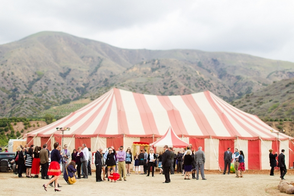 Circus tent for wedding
