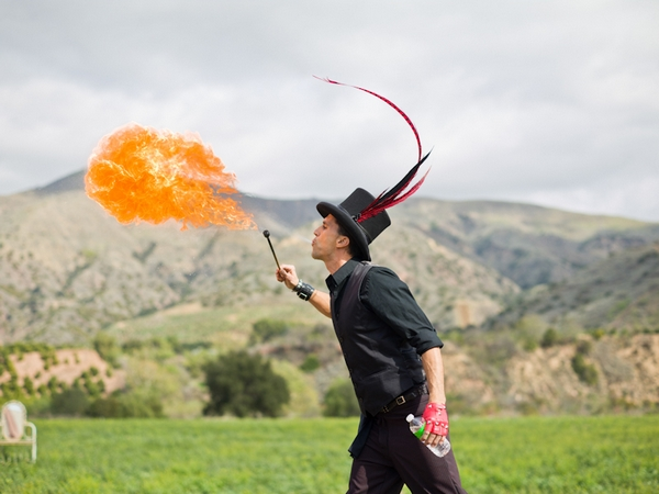 Circus fire breather