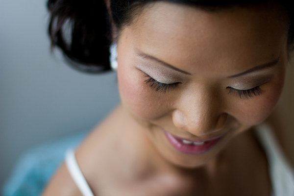 Close up of bride's face - Picture by Karli Harrison Photography