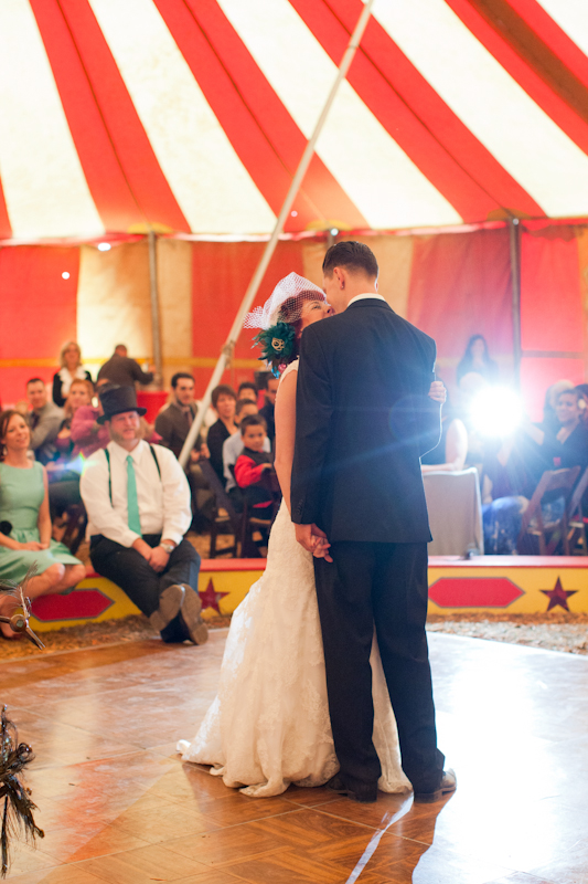 Bride and groom's first wedding dance