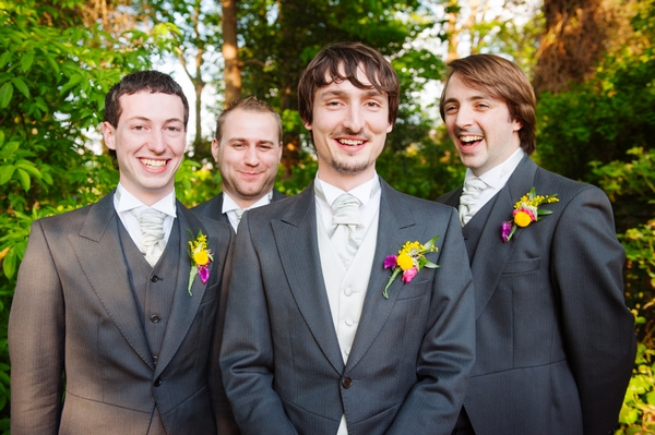 Groomsmen smiling - Picture by Aaron Collett Photography