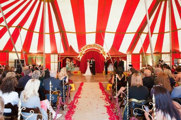 Circus wedding ceremony