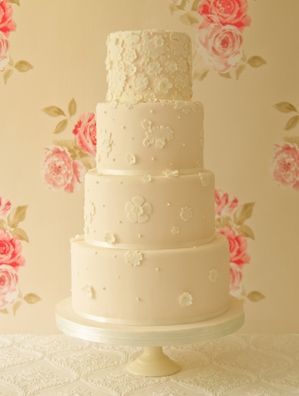 Agnes Wedding Cake - The Abigail Bloom Cake Company 2013 Collection