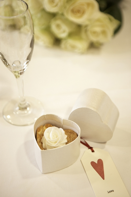 Millie's Cookies Wedding Favour in Heart-Shaped Box