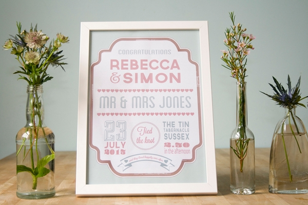Personalised Wedding Day Print - Wedding in a Teacup