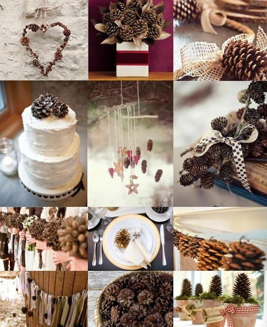 Pine Cone Wedding Decoration Ideas