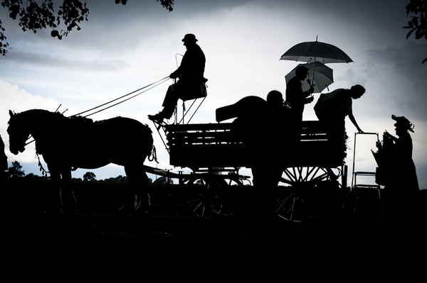Silhouette of horsee and cart - Picture by Kristian Leven Photography