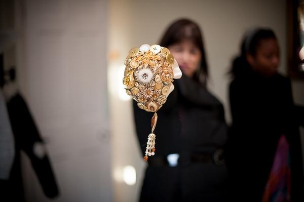 Gold brooch bouquet