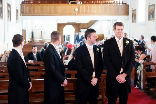 Groomsmen at altar