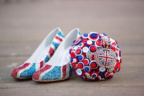 Union Jack bridal shoes