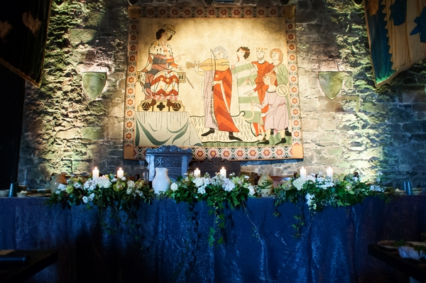 Medieval wedding reception