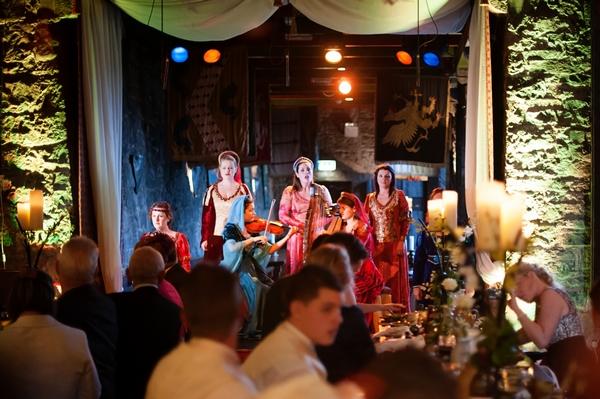 Medieval wedding entertainment