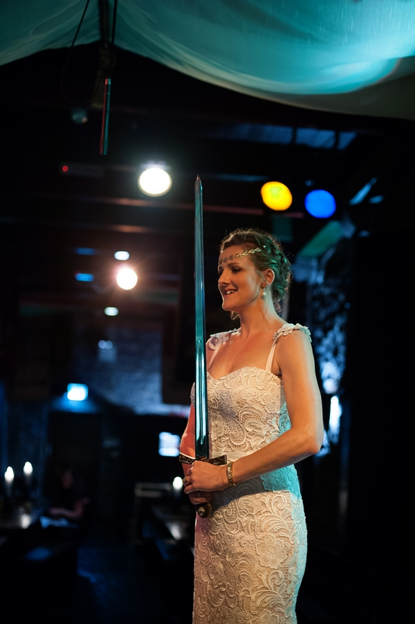 Bride with sword