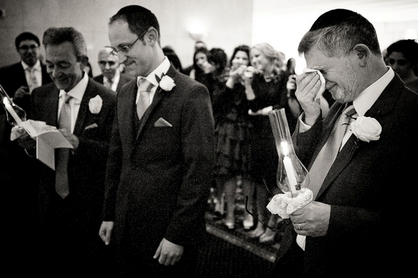 Man crying at wedding - Picture by Kristian Leven Photography