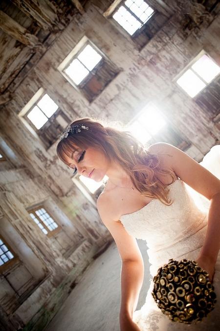 Bride with big false eyelashes