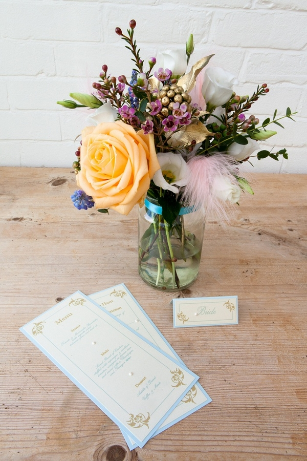 Wedding stationery and flowers