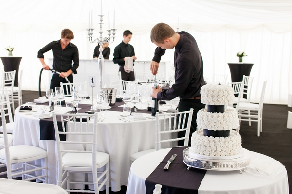 Gastro Catering setting up for wedding