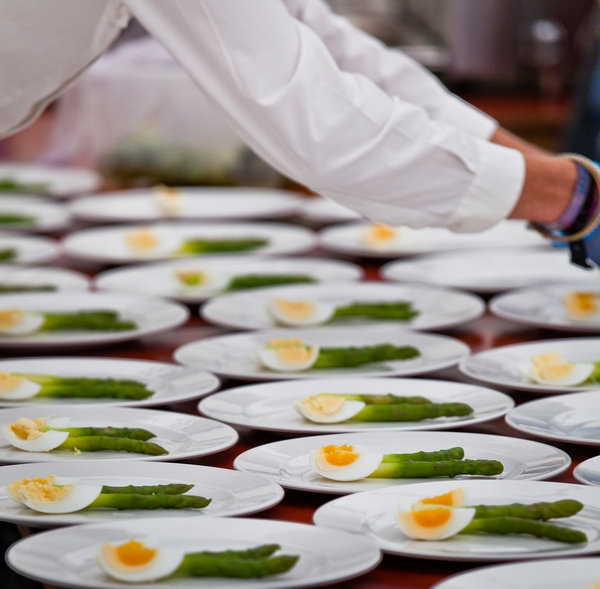 Food plating up by Gastro Catering