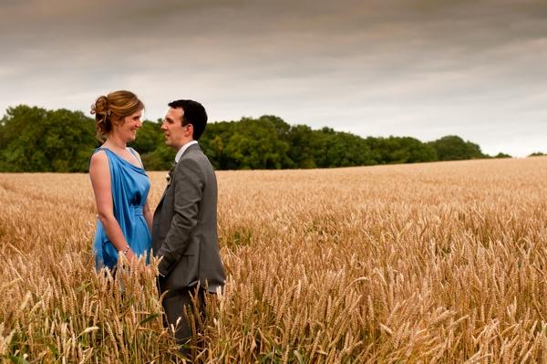 A Colourful Wedding with a Blue Wedding Dress