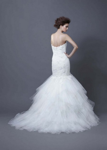 Picture of Back of Habika Wedding Dress - Enzoani 2013 Collection