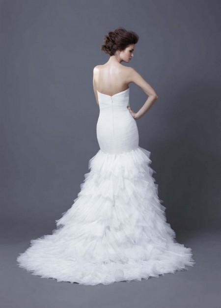 Picture of Back of Hadiya Wedding Dress - Enzoani 2013 Collection