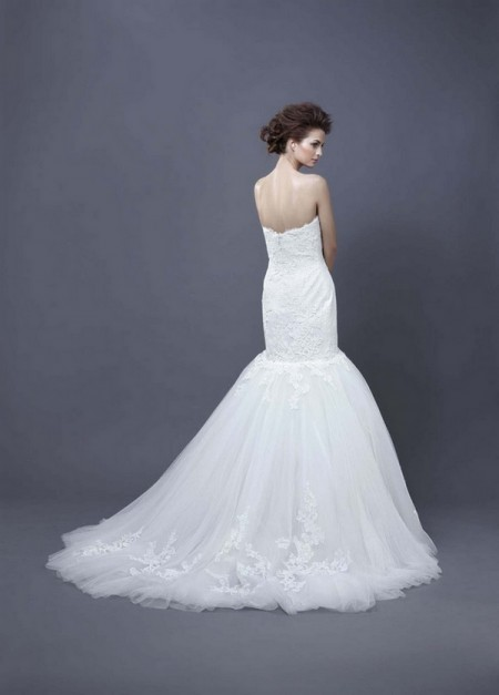 Picture of Back of Heather Wedding Dress - Enzoani 2013 Collection