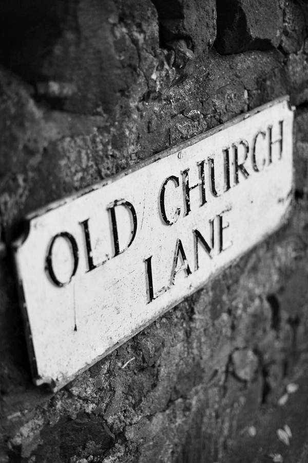Old Church Lane sign