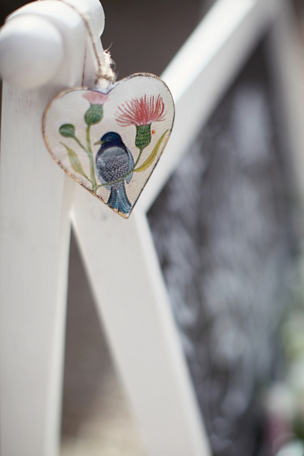 Heart hanging on chair