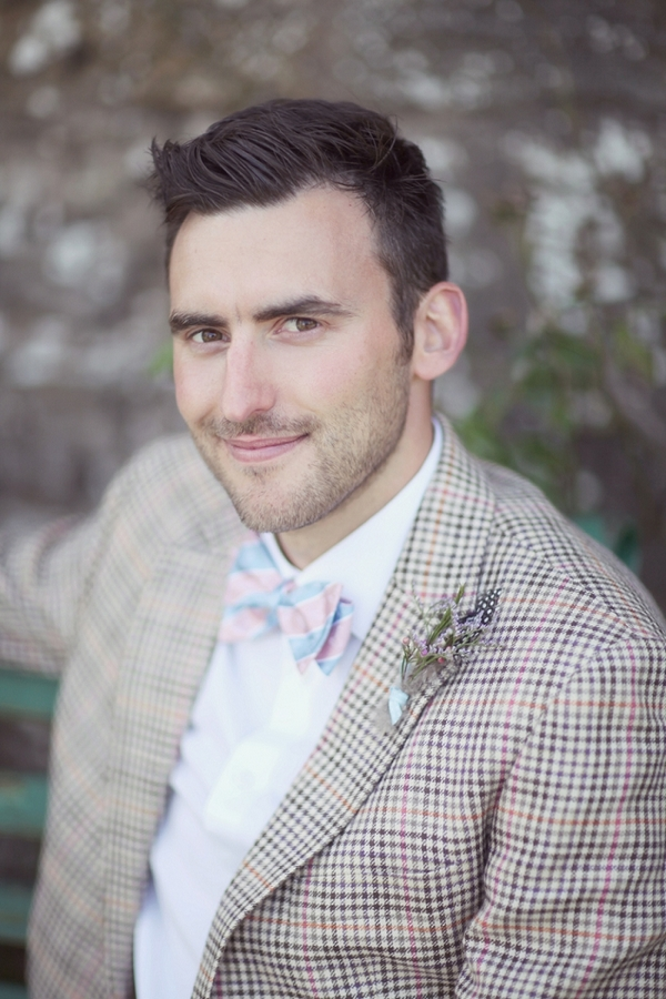 Groom in check jacket