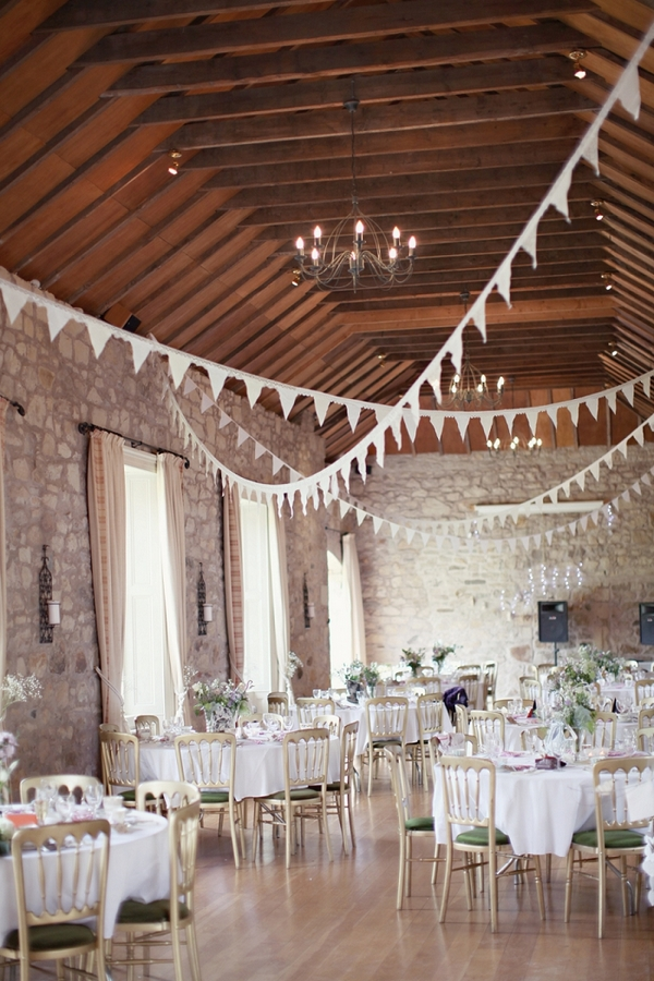 Wedding tables at Kirknewton Stables