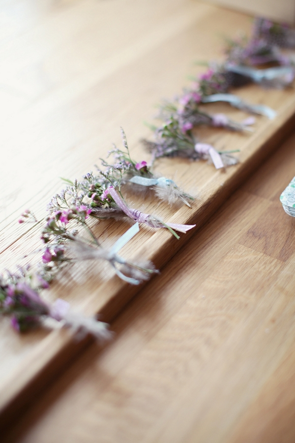 Row of buttonholes