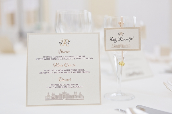Menu and place name card