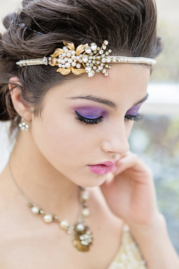 Bride wearing headband