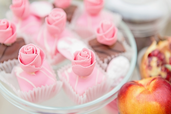 Small pink cakes