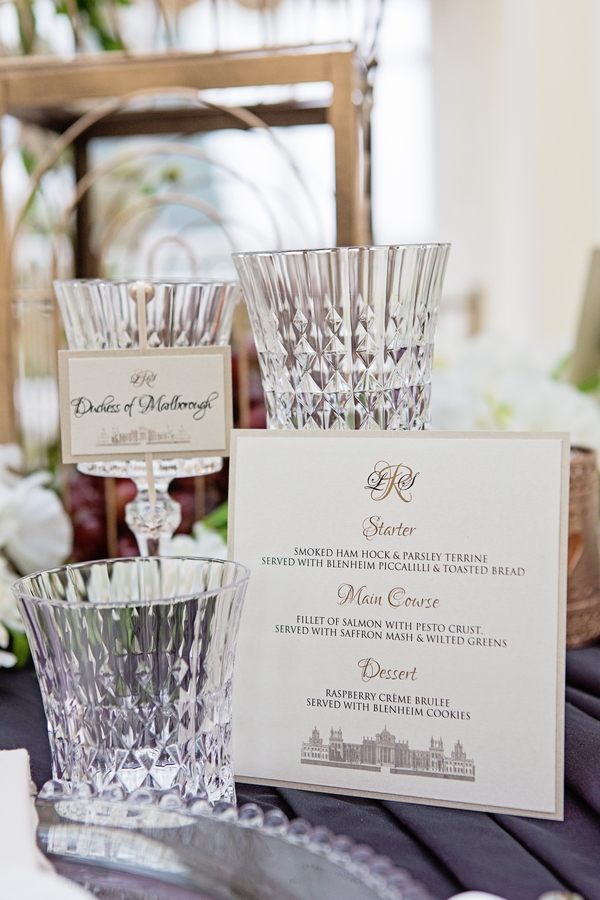 Glasses and menu