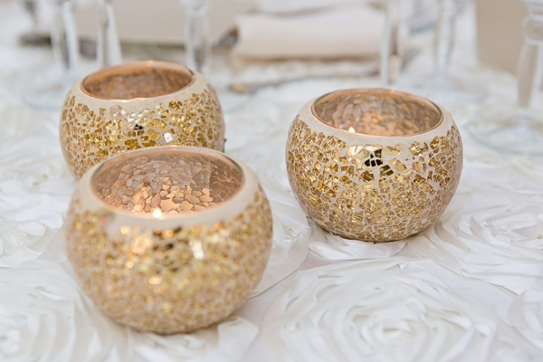 Gold tealight holders