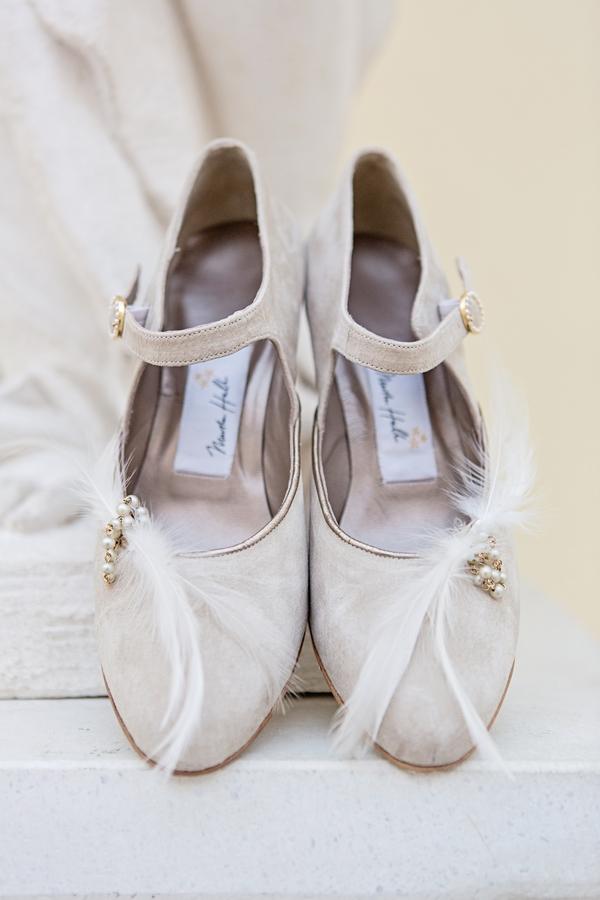 Grey suede wedding shoes