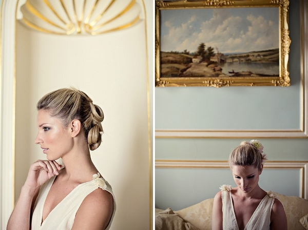 Bride with graceful updo