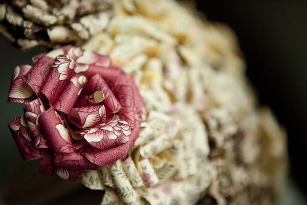 Paper bouquet close up