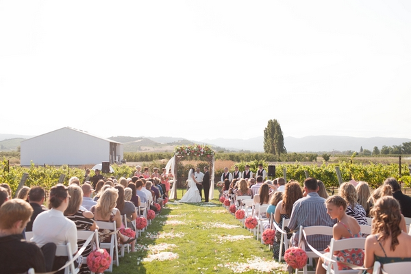 Wedding ceremony at Eden Valley Orchards