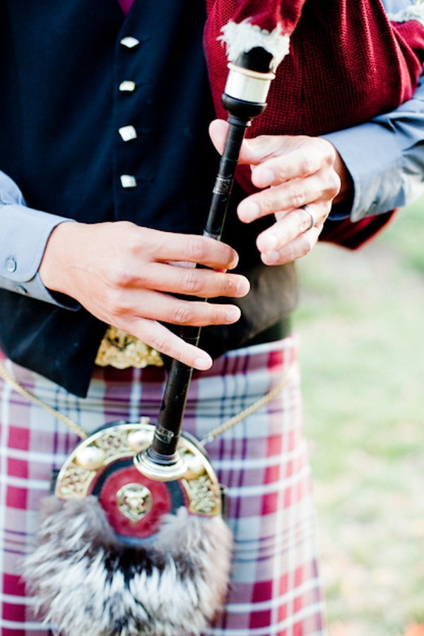 Bagpiper playing