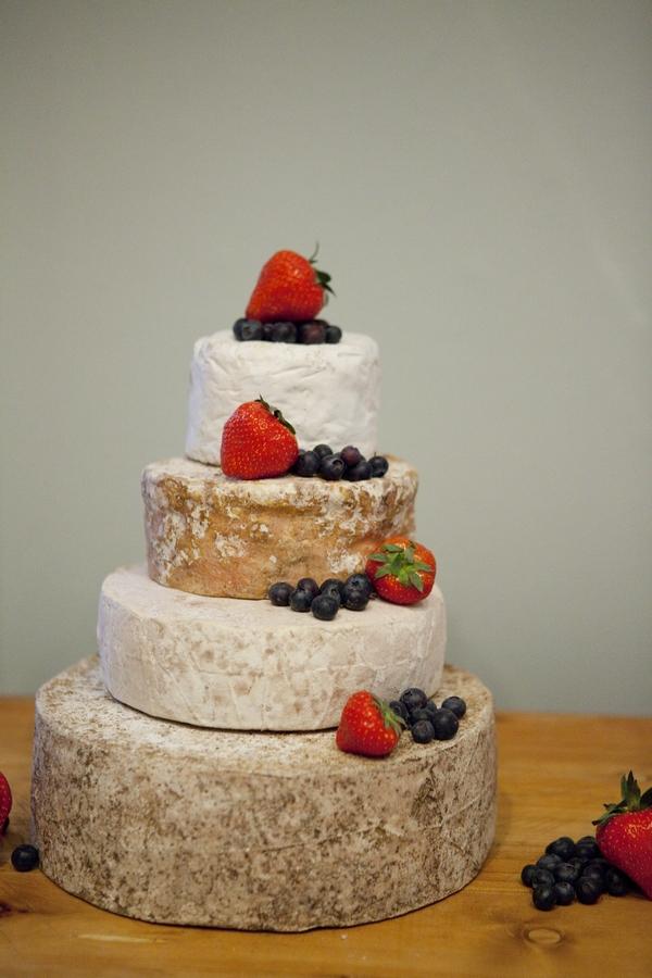 Cheese stack wedding cake