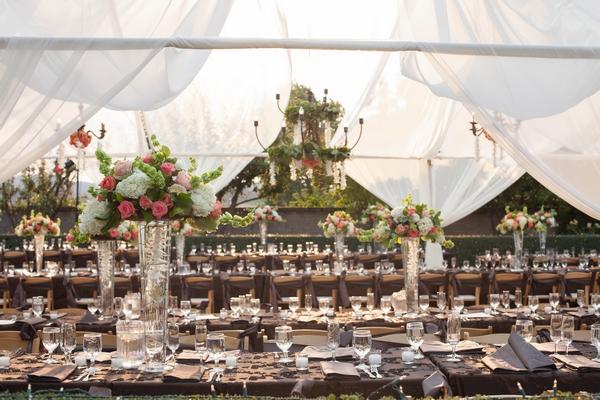 Wedding breakfast tables