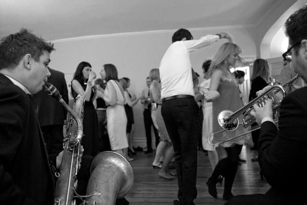 Wedding guests on dancefloor