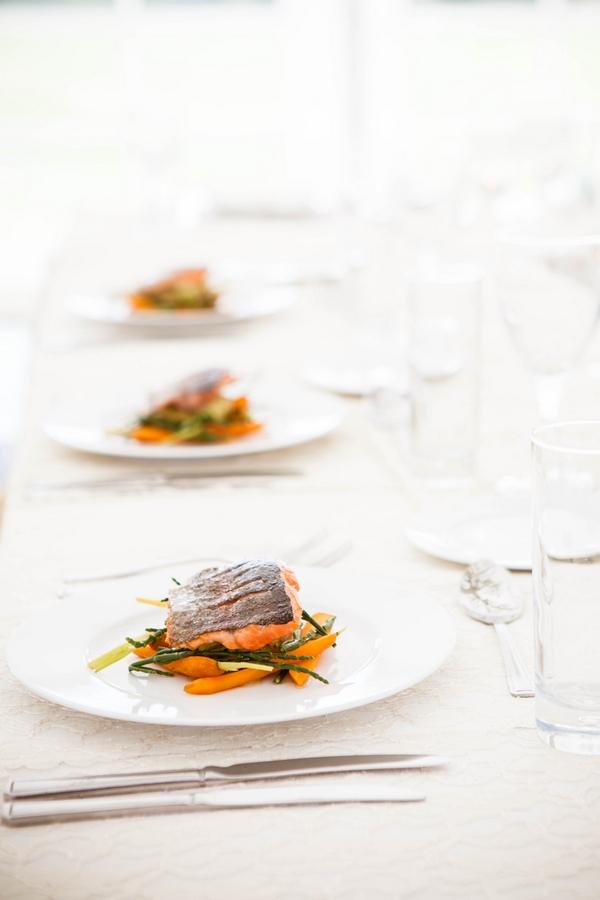 Row of plates