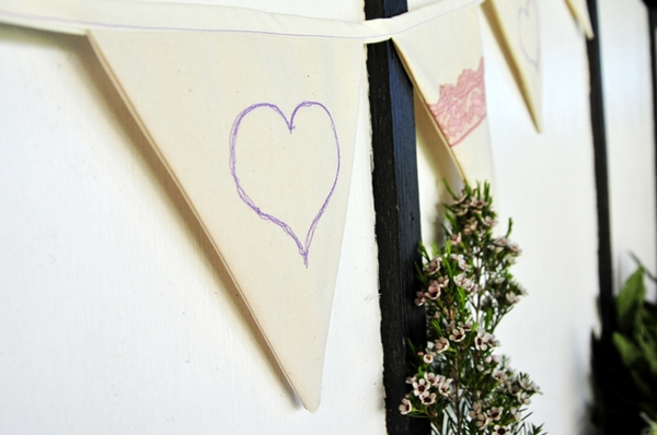 Heart on bunting